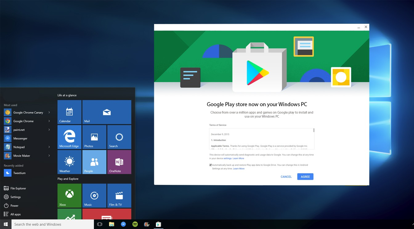 download play store for laptop windows 10