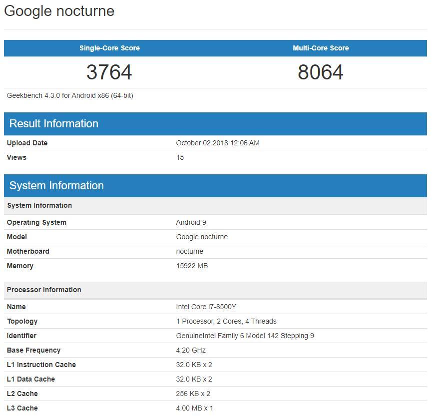 Google's Chrome OS/Windows 10 Pixel Slate to Feature Intel