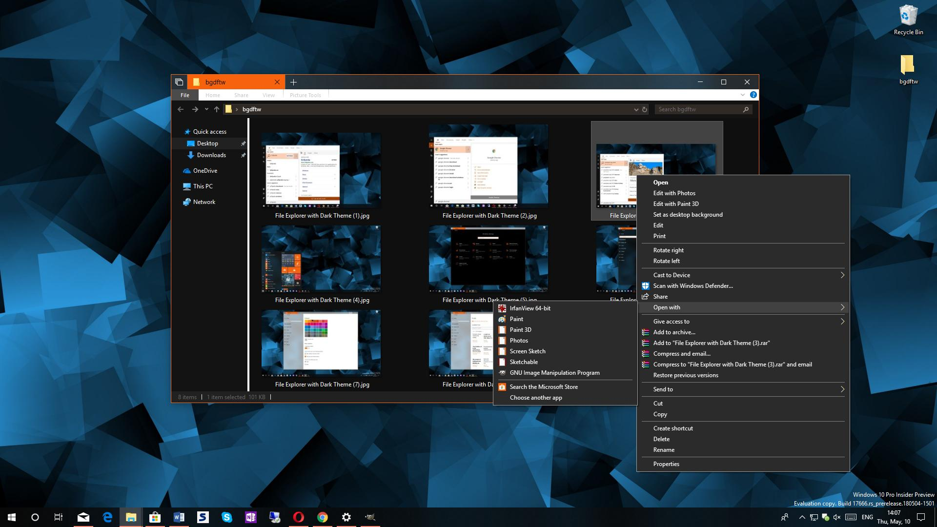 Hands-On with the Early Version of Windows 10's Dark Theme