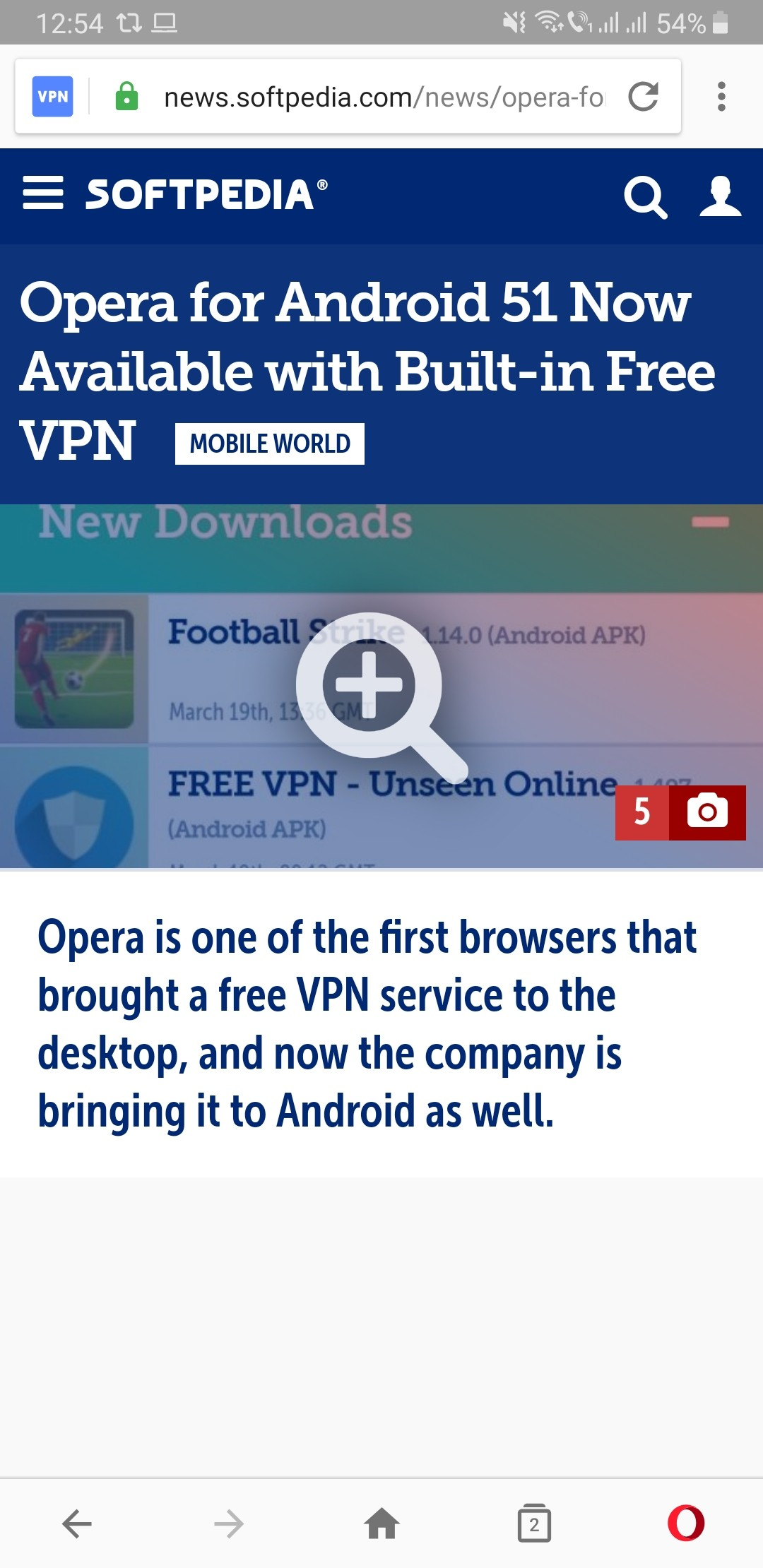 Hands-On with the Free VPN Feature in Opera for Android 51