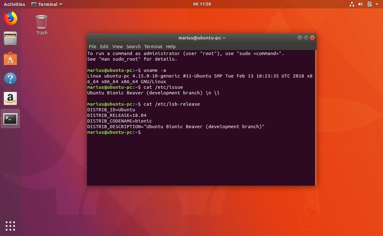 ubuntu 18 04 minimal