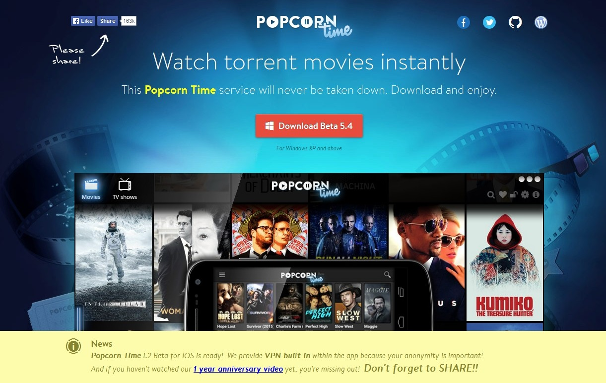 Here Are Some Popcorn Time Alternatives