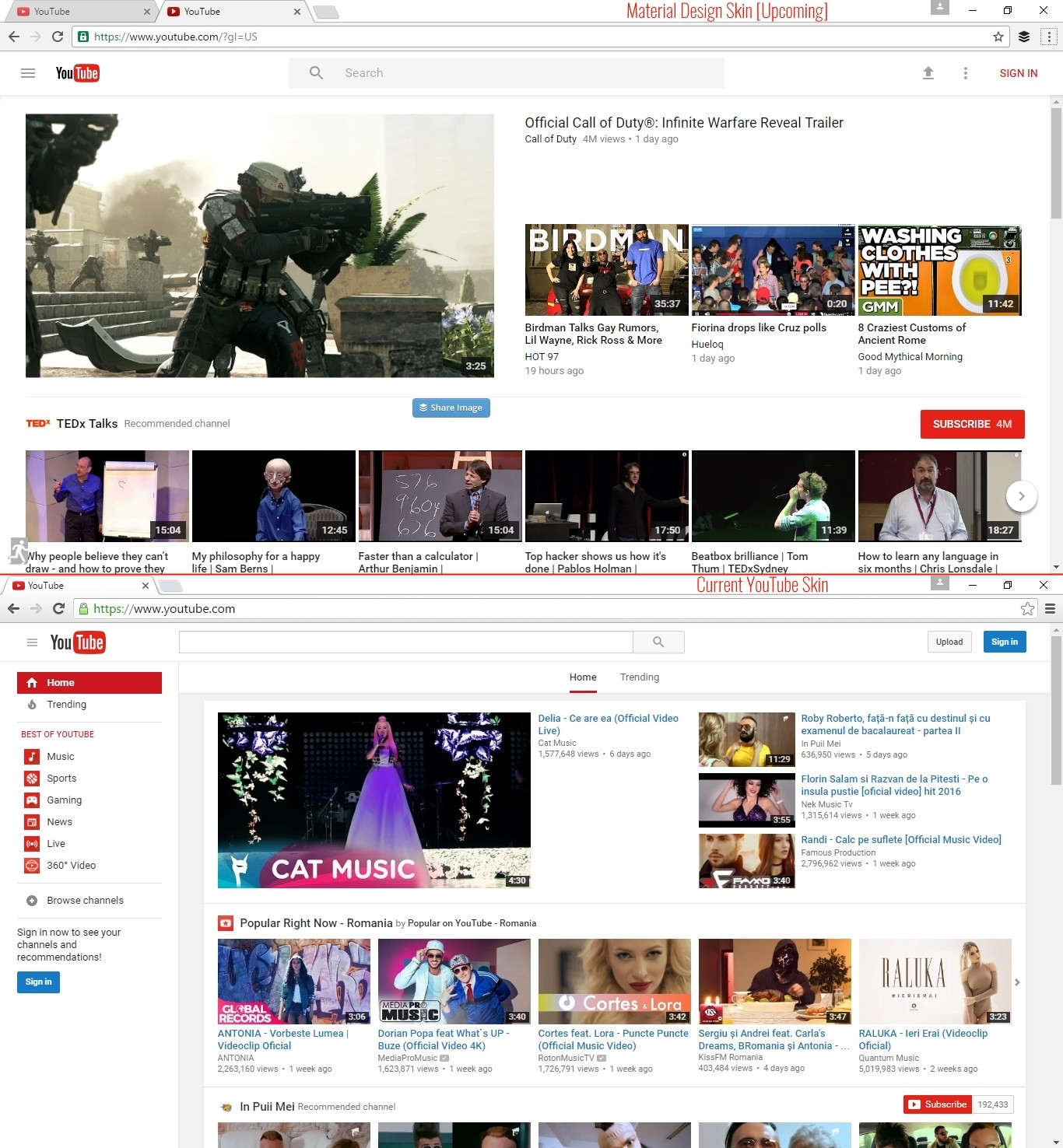 Here\'s How to Enable YouTube\'s Upcoming Material Design Skin