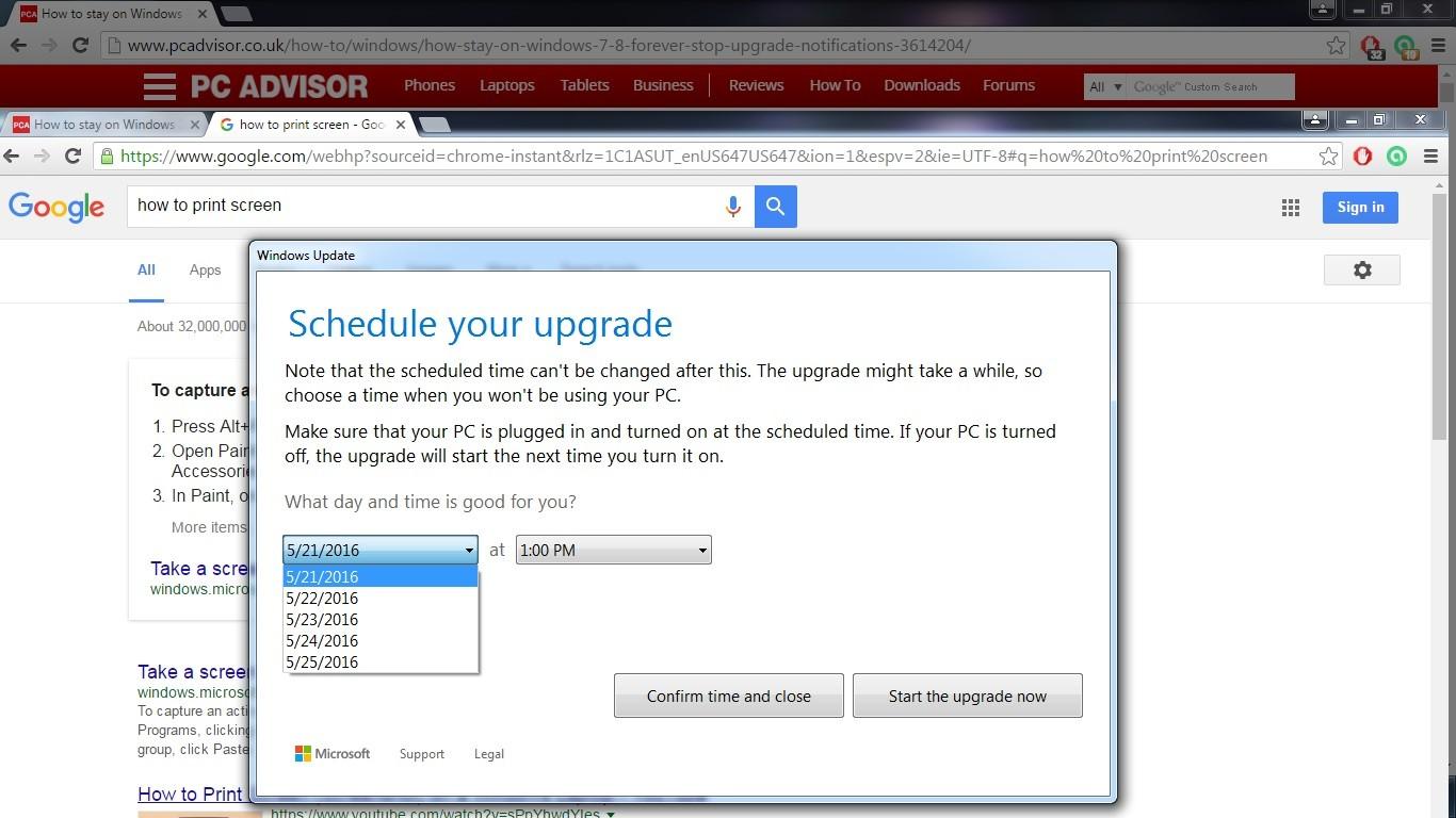How do I cancel an upgrade to Windows 10