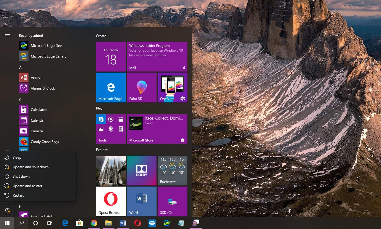 Windows 10 Start Bilder