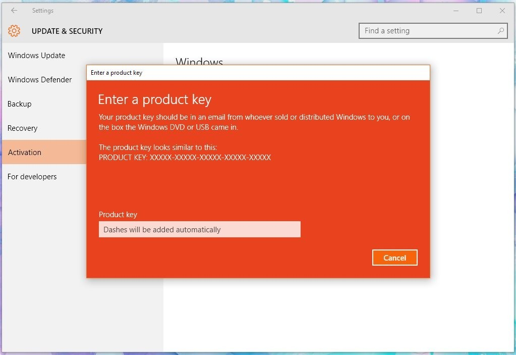 How to Activate Windows 10 with Windows 7 or 8 1 Product Key