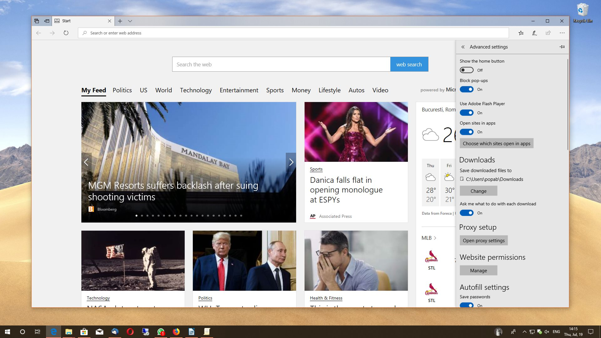 How to Block Flash Player in Microsoft Edge Browser