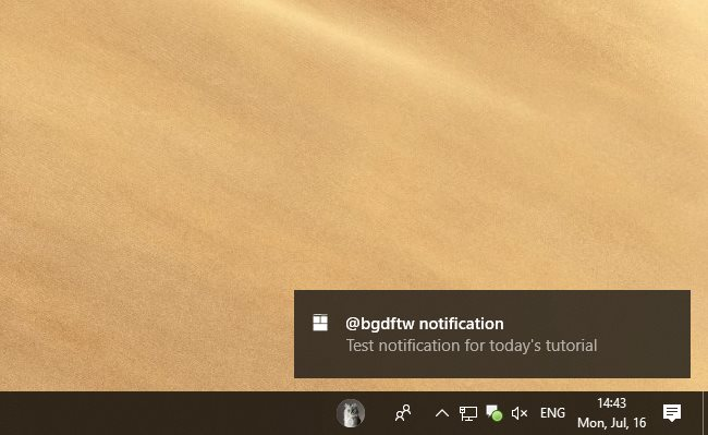 How to Block Toast Notifications on Windows 10 April 2018 Update