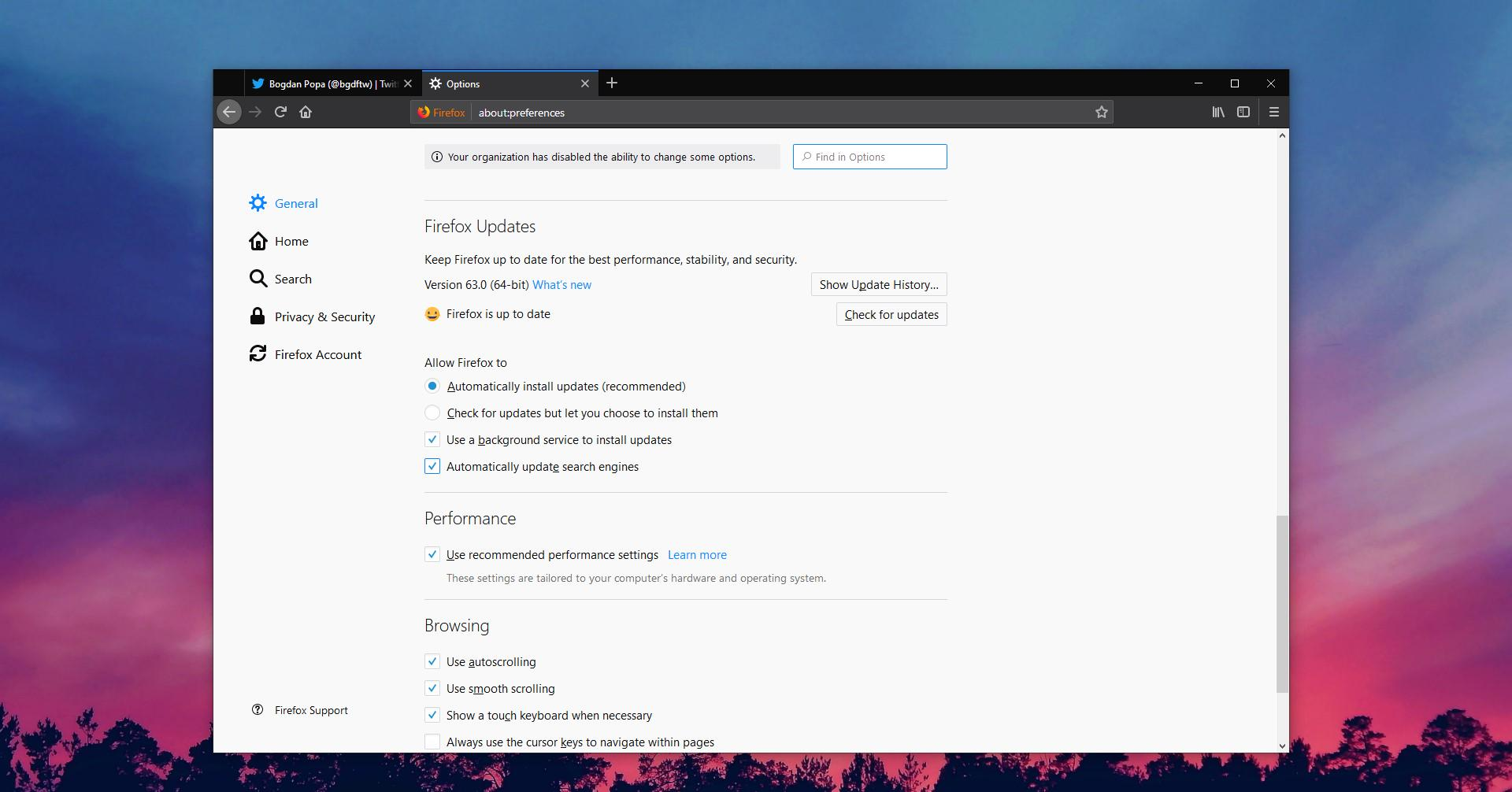 How to Block Updates in Mozilla Firefox 63