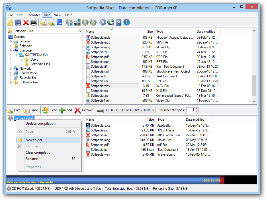 how to clear cd burning in windows 10