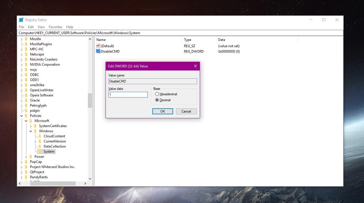 windows 10 control panel command
