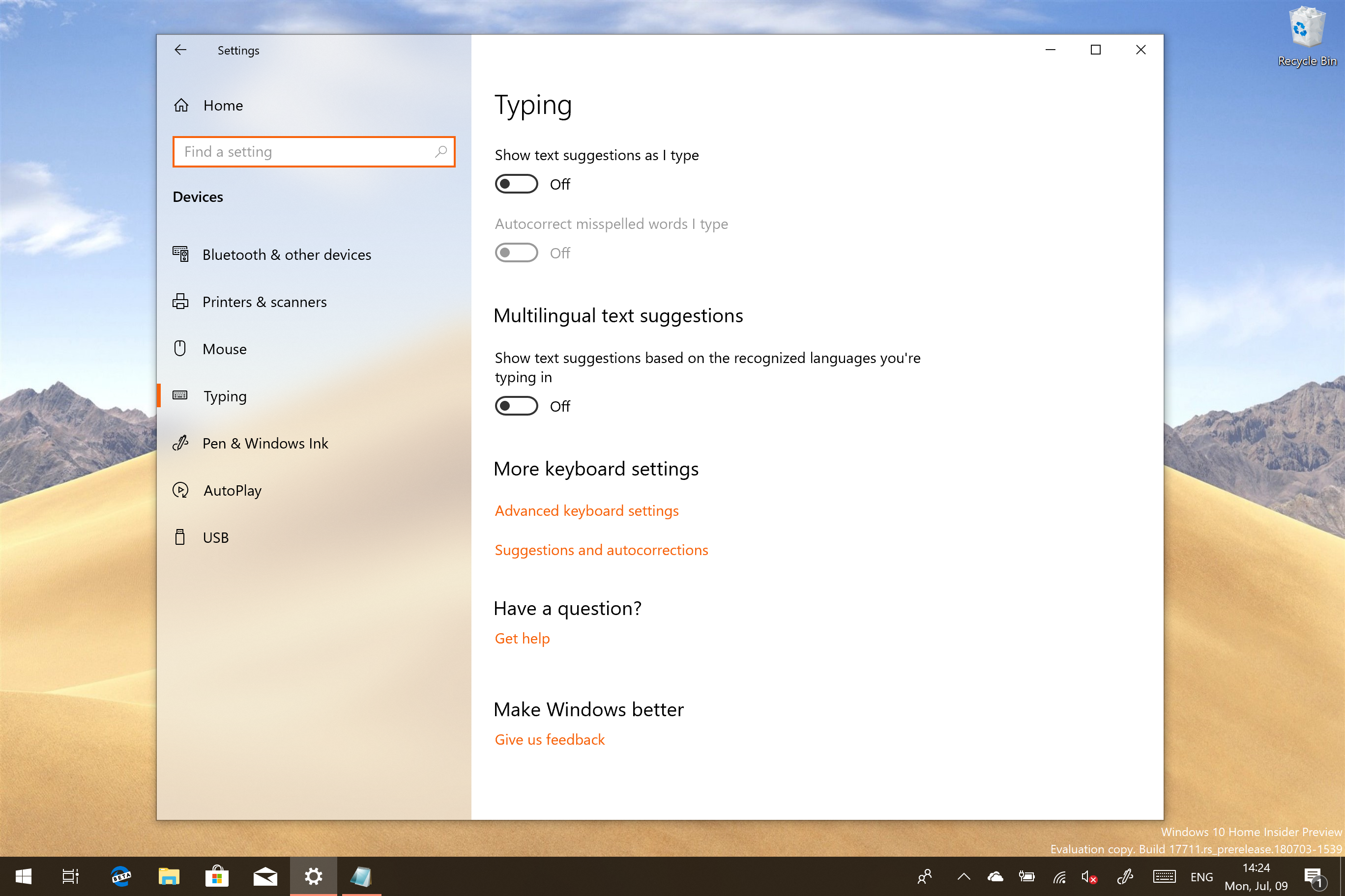 eac4aae66f4 How to Disable SwiftKey in Windows 10 Redstone 5