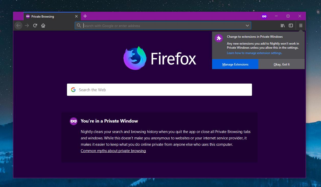 Extensions in Mozilla Firefox 67
