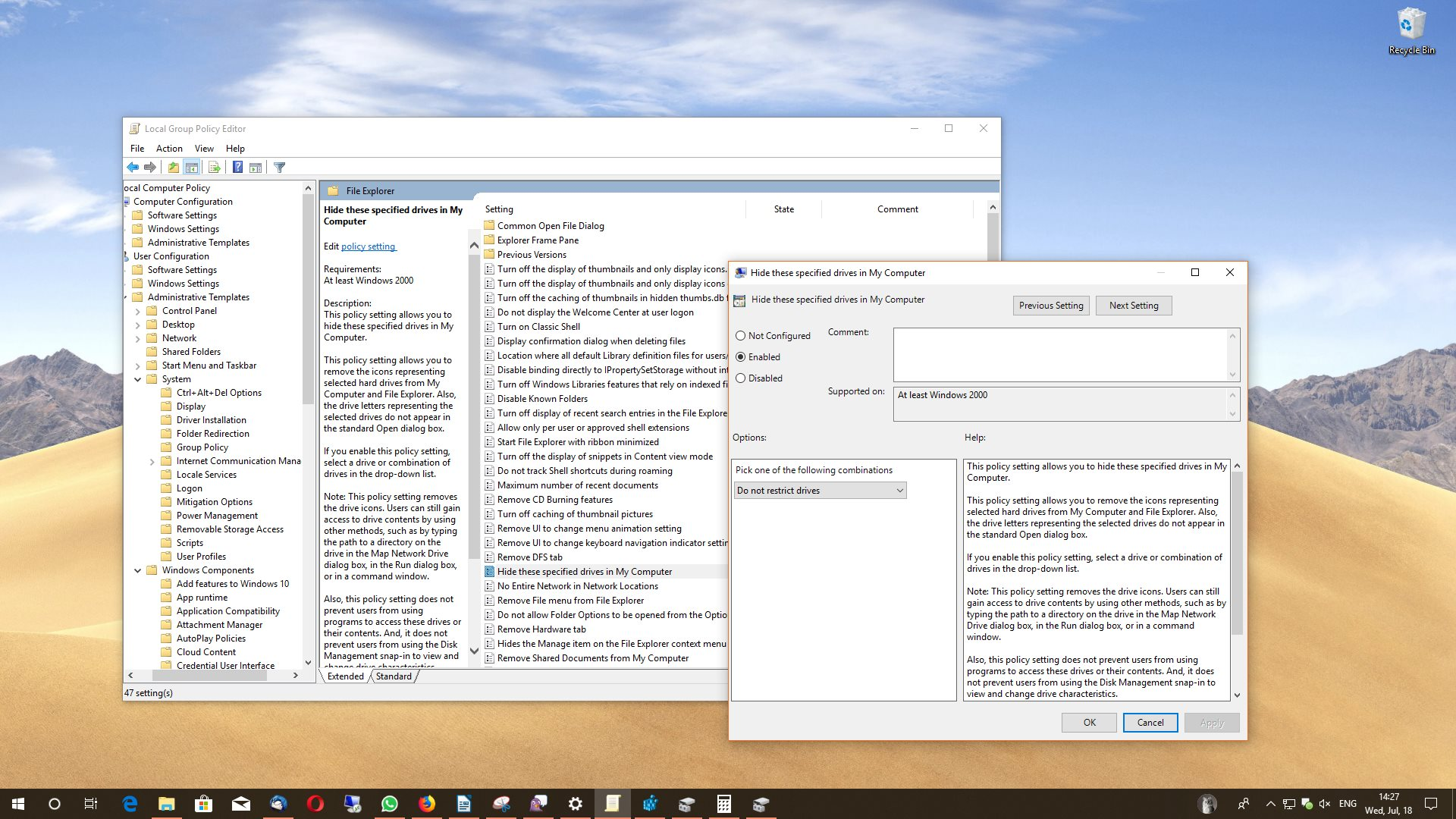 How to Hide a Drive in Windows 10