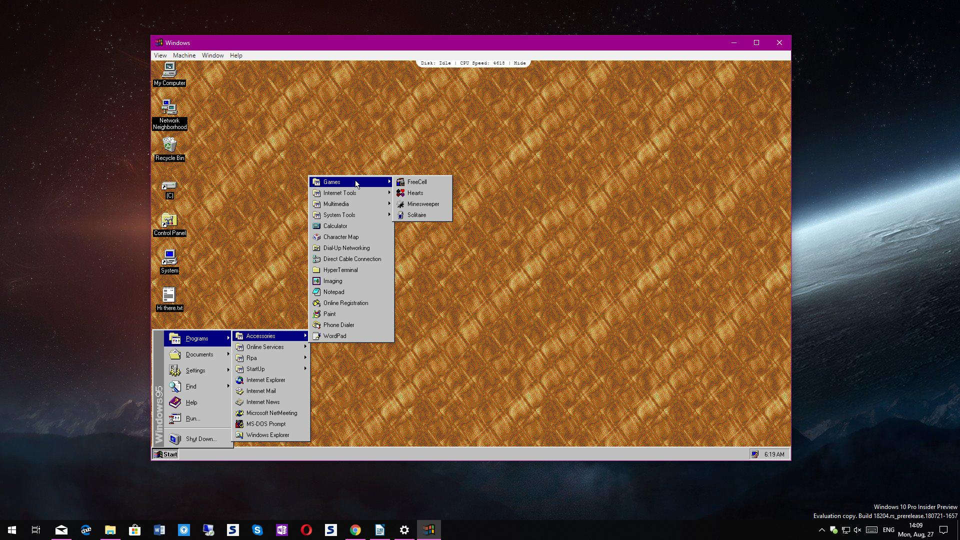 How to Try Out Windows 95 on Windows 10