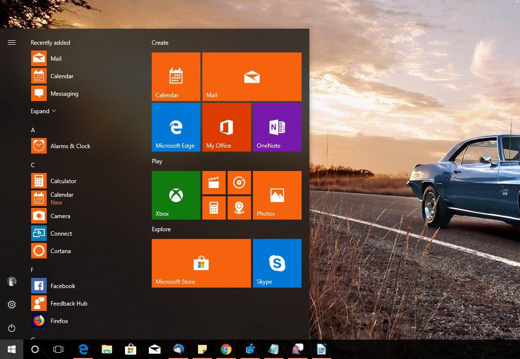 1809 Menu how to reset windows 10 fall creators update start menu and