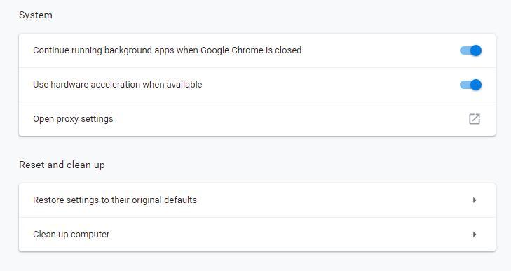 Disabling hardware acceleration in Google Chrome