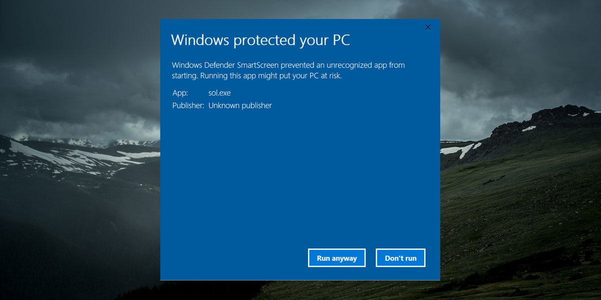 How to Unblock a File Blocked by Windows Defender SmartScreen in