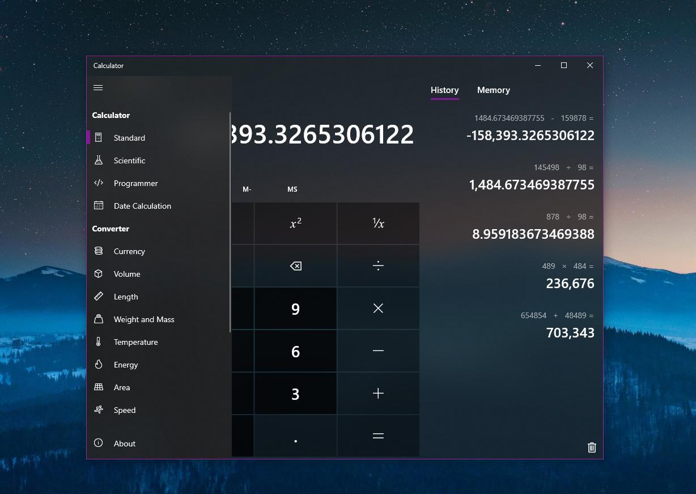 Windows 10 Calculator app