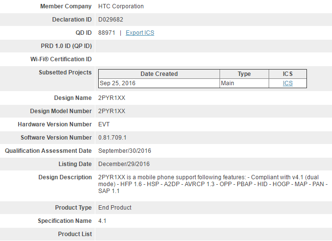 Htc One X10 Supposedly Received Bluetooth Sig Certification