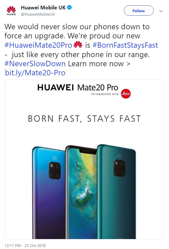 Huawei Makes Fun on Apple and Samsung for Slowing Down