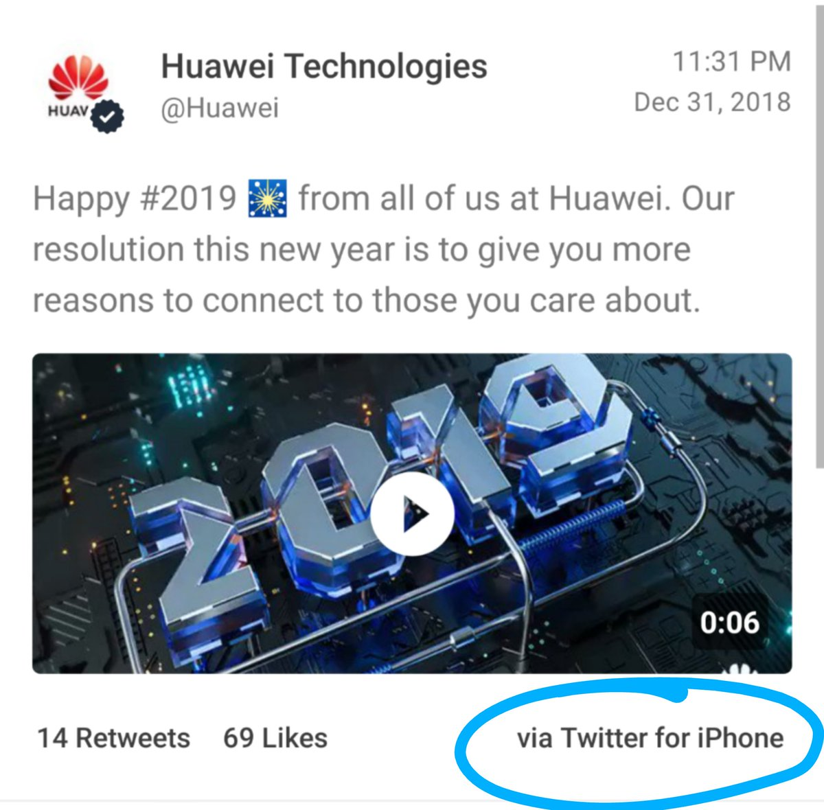 Huawei Employees Punished After iPhone Tweet Blunder
