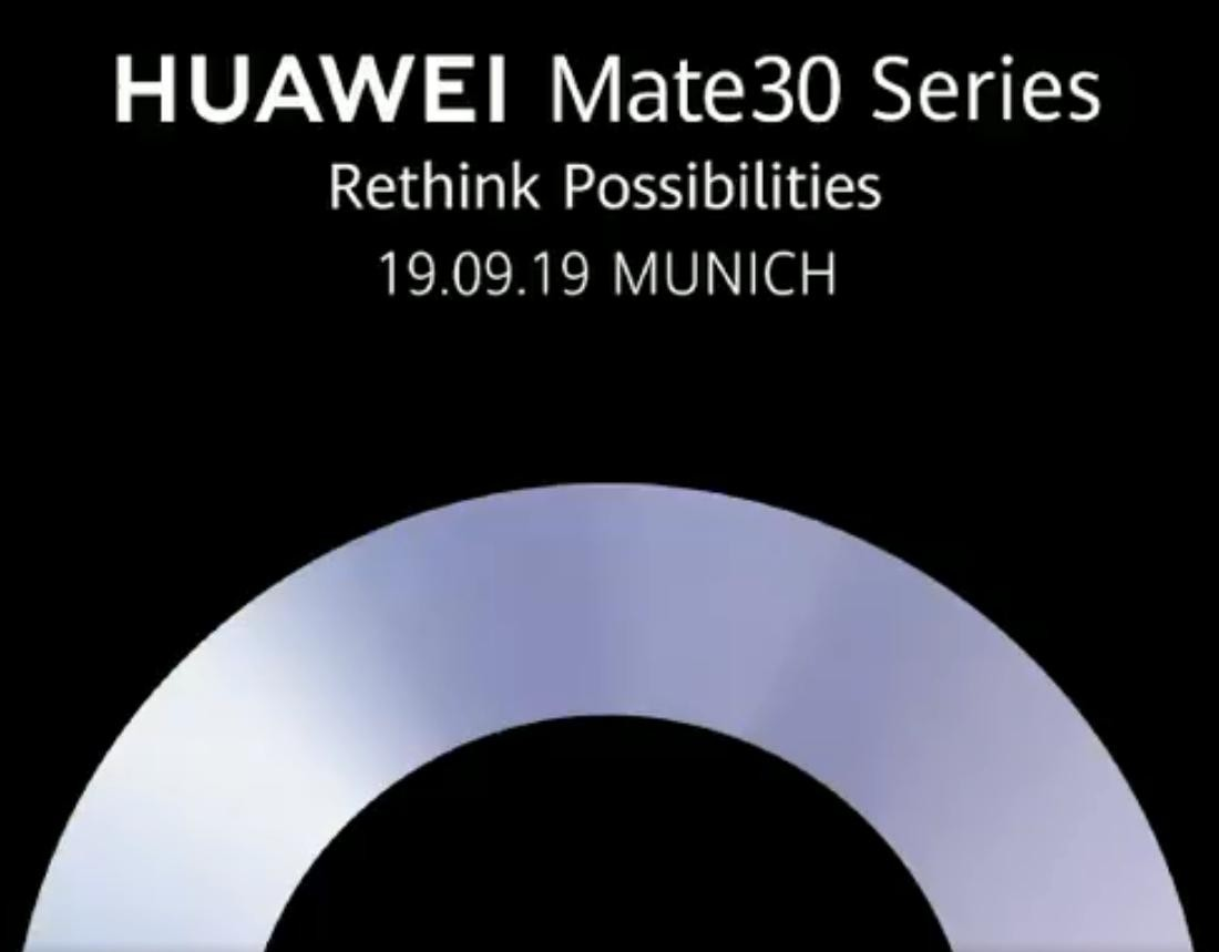 Huawei will launch the Mate 30 later this month