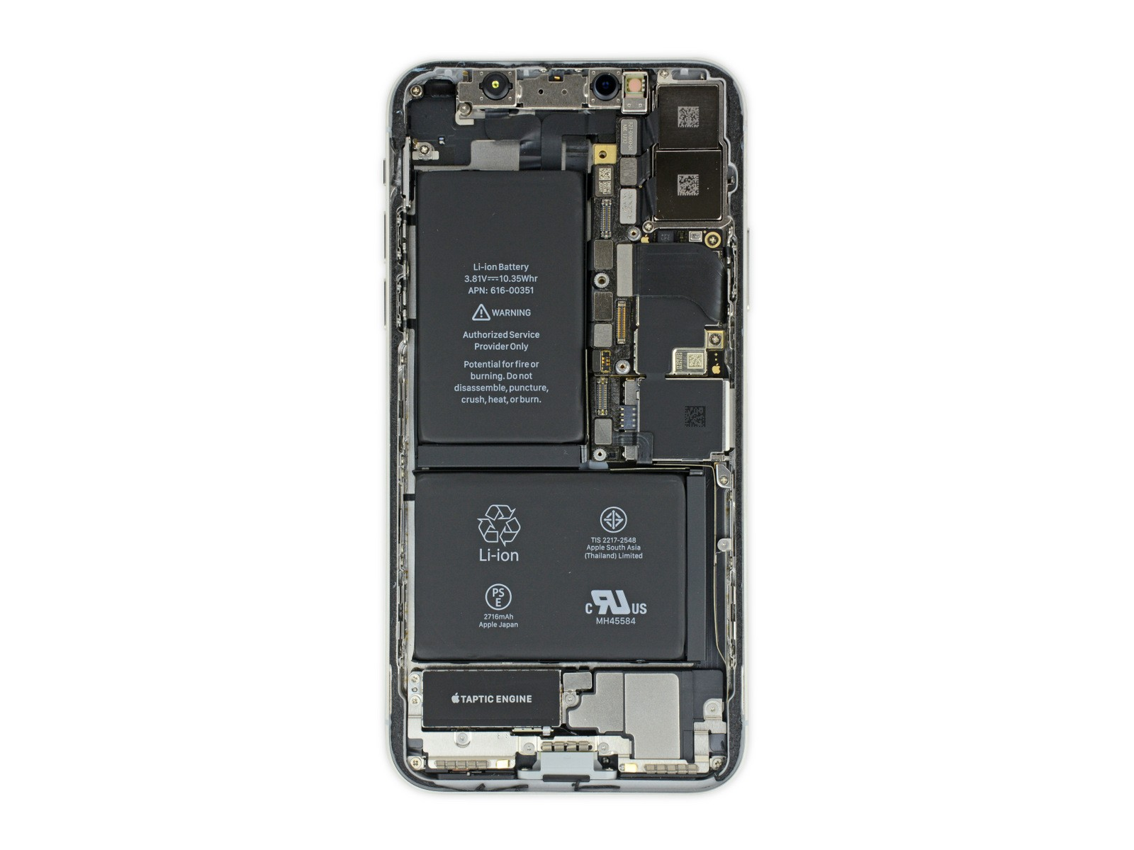 Ipad Retina Wallpaper For Iphone X 8 7 6: IFixit Teardown Reveals What's Inside The IPhone X