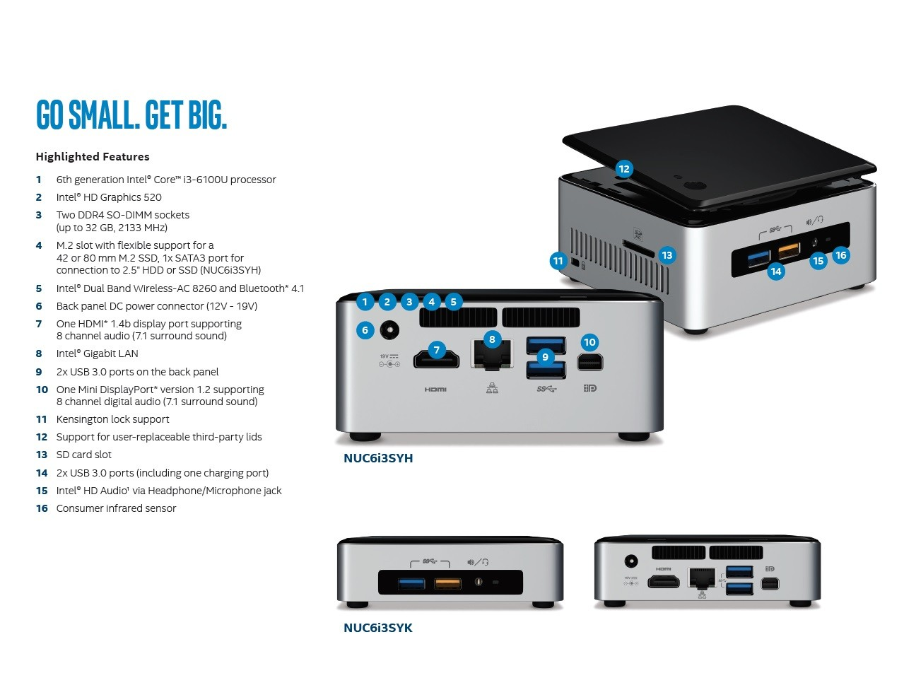 Intel NUC6i5SYH NUC Kit Drivers Download (2019)