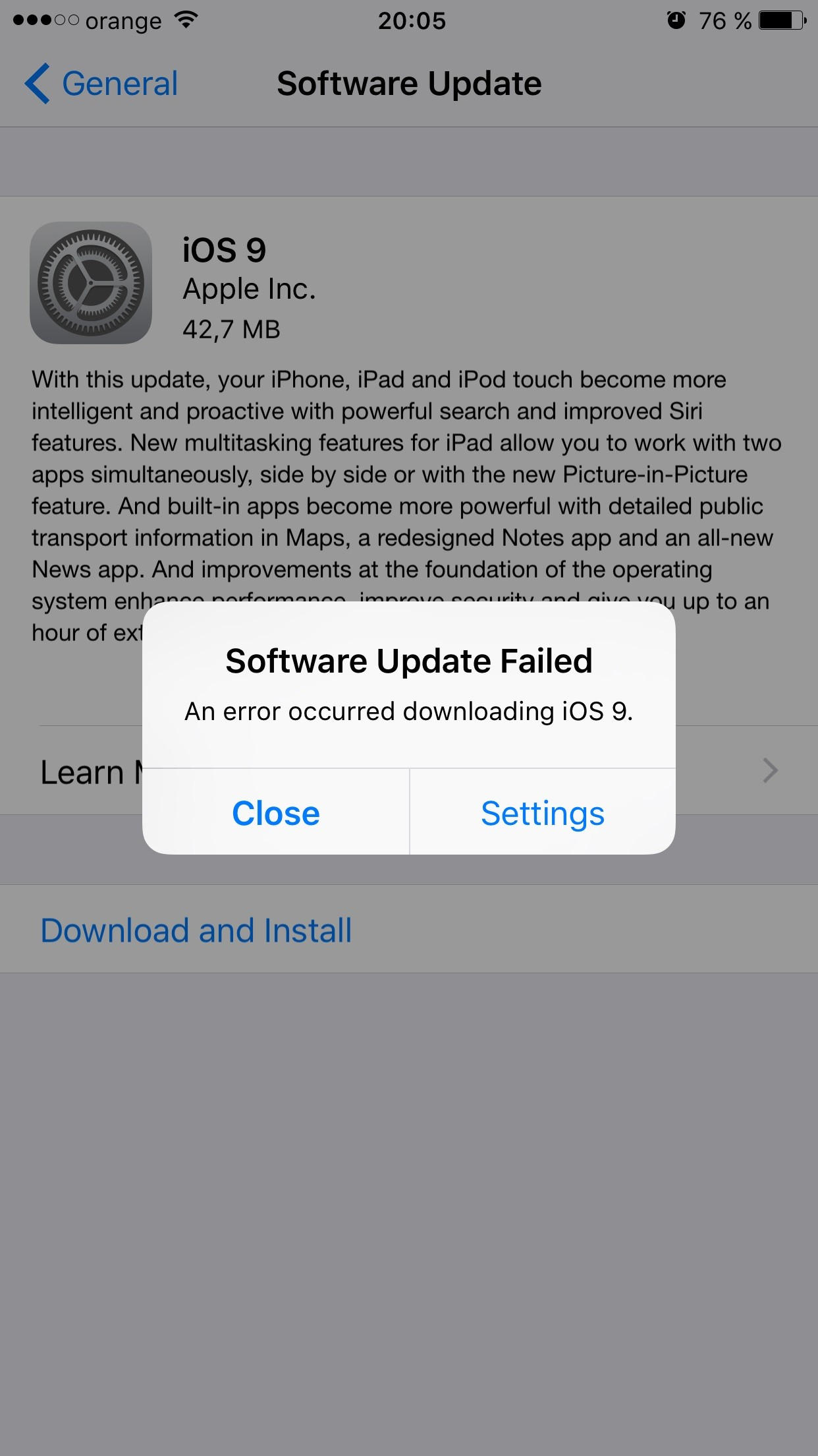 Garmin Update Software >> iOS 9 Download Issues: Software Update Failed, Error Occurred Downloading iOS 9