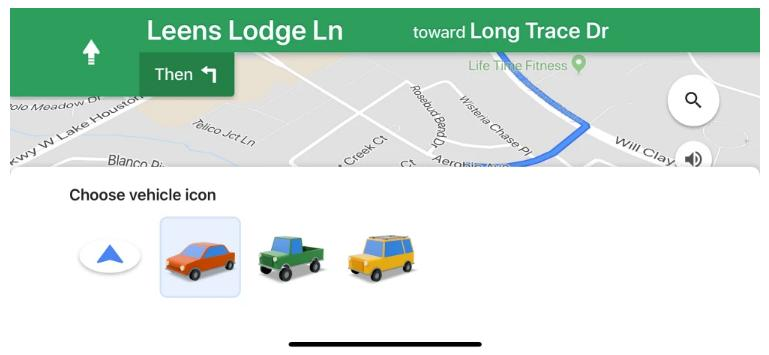 iOS Custom Navigation Icons Coming to Google Maps on Android