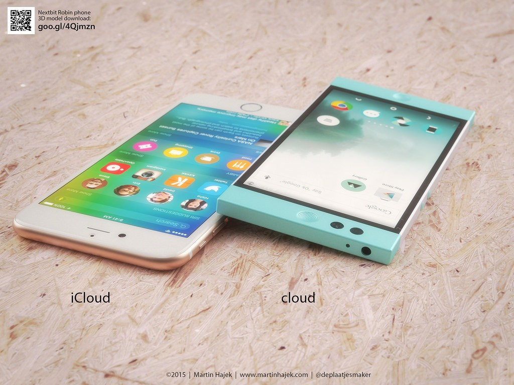 iPhone 6s Compared to Nextbit's Cloud-Enabled Robin