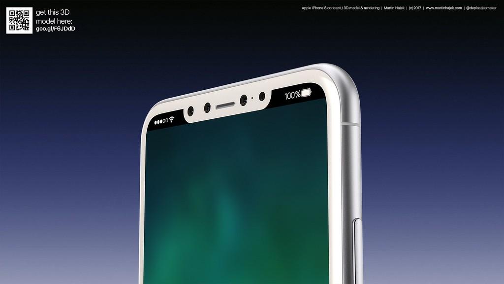 iPhone 8: No Fingerprint Sensor, All-in On 3D Facial Detection