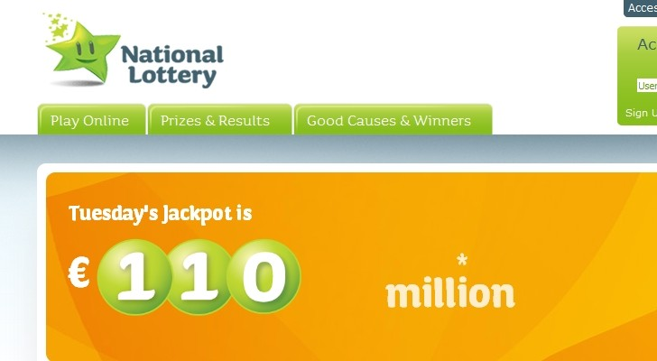 Irish national lottery prizes results www
