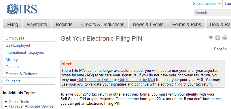 IRS Retires e-Filing PIN System After More Cyber-Attacks