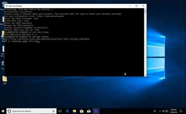 how to make kali linux live usb from windows 10