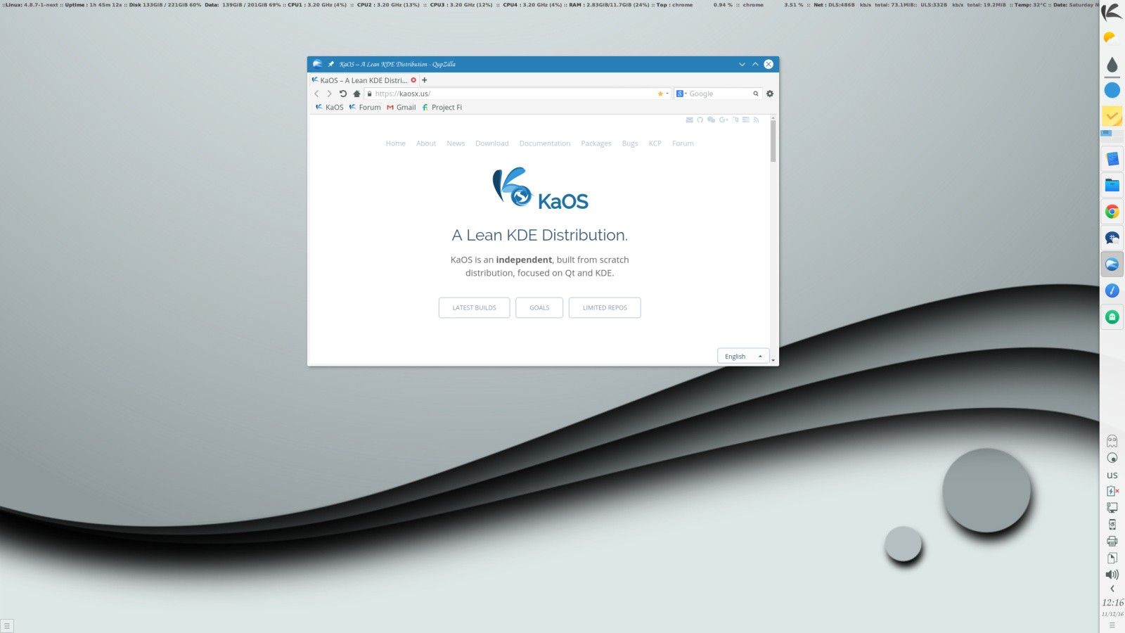 KaOS 2017 02 Is Out with Linux 4 9 10, KDE Plasma 5 9 2, and