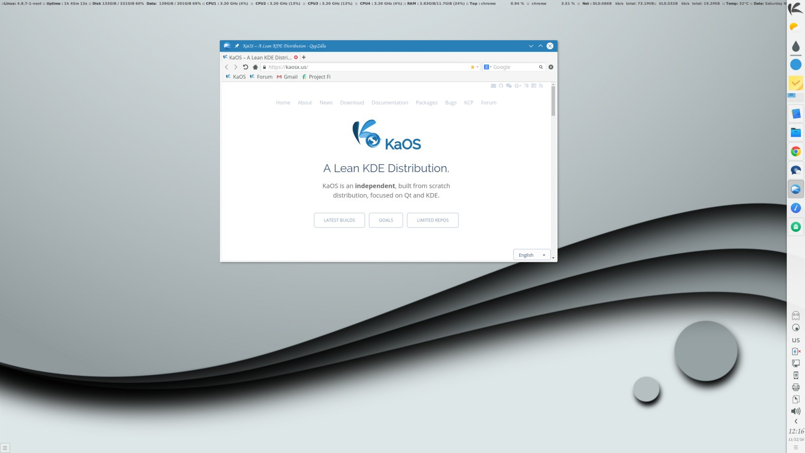 Kaos Linux Starts The New Year With A Fresh Look First Iso For 2 201701