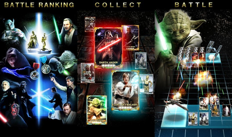 Konami Celebrates Star Wars Force Collection For Android Ios With Special Card Packs