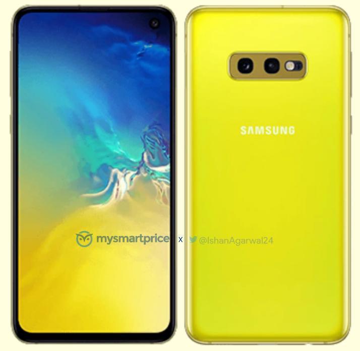 Samsung Galaxy S10e in yellow