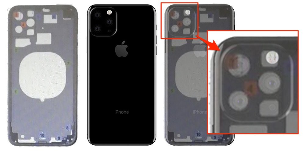 best website e350c 2c093 Leaked iPhone XI Schematics Indicate Square-Shaped Rear Camera Is a ...