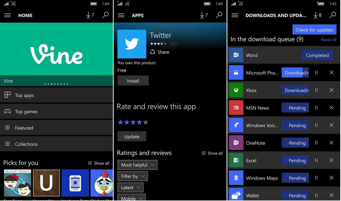 Leaked Screenshots Reveal Improved Windows 10 Mobile Store Design