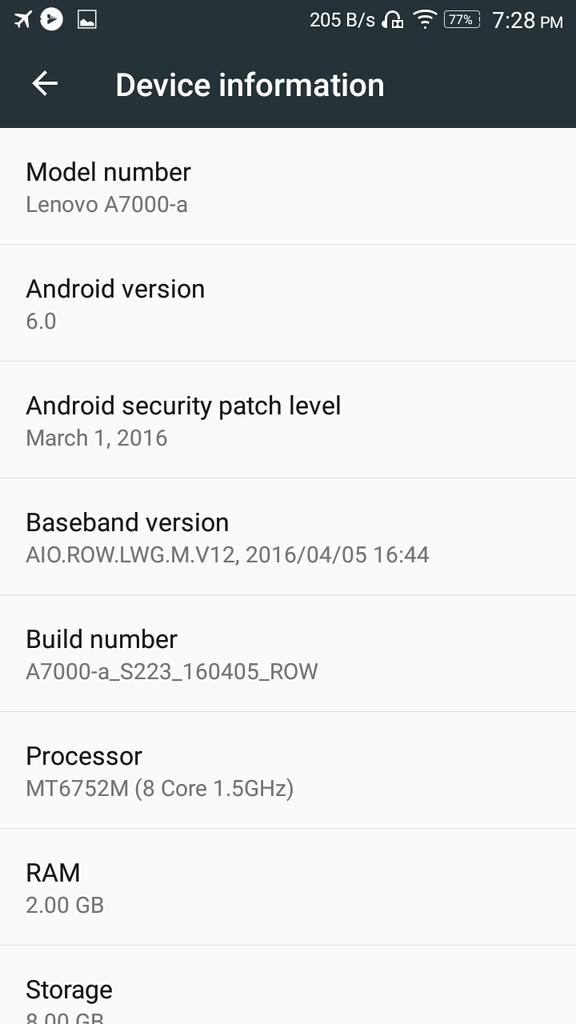 Lenovo A7000 Receiving Android 6 0 Marshmallow Update