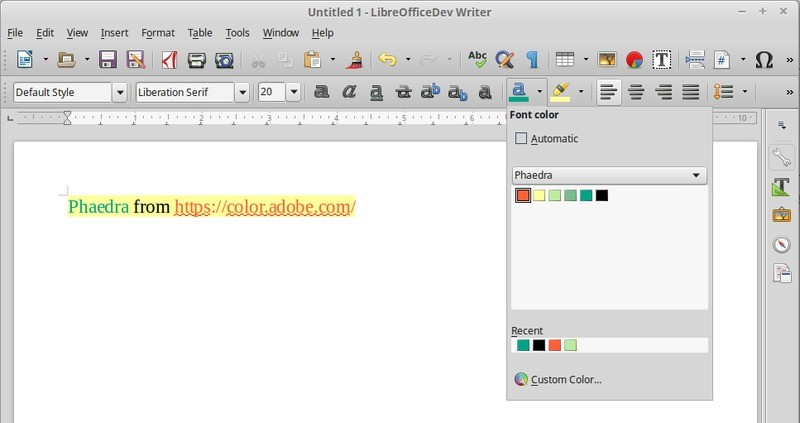 libreoffice 5.0.5