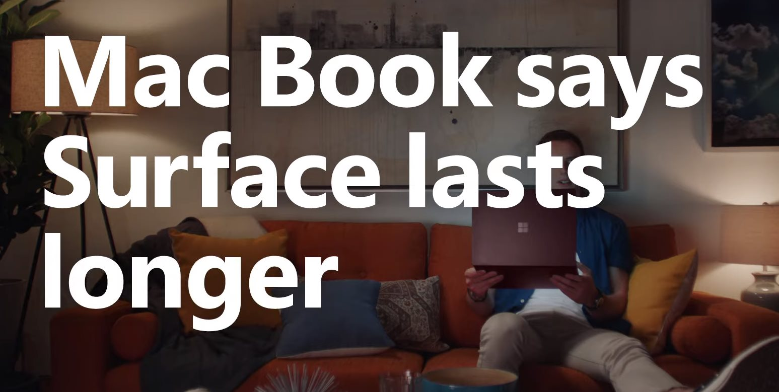 Microsoft's new Surface ad features a guy named 'Mac Book'