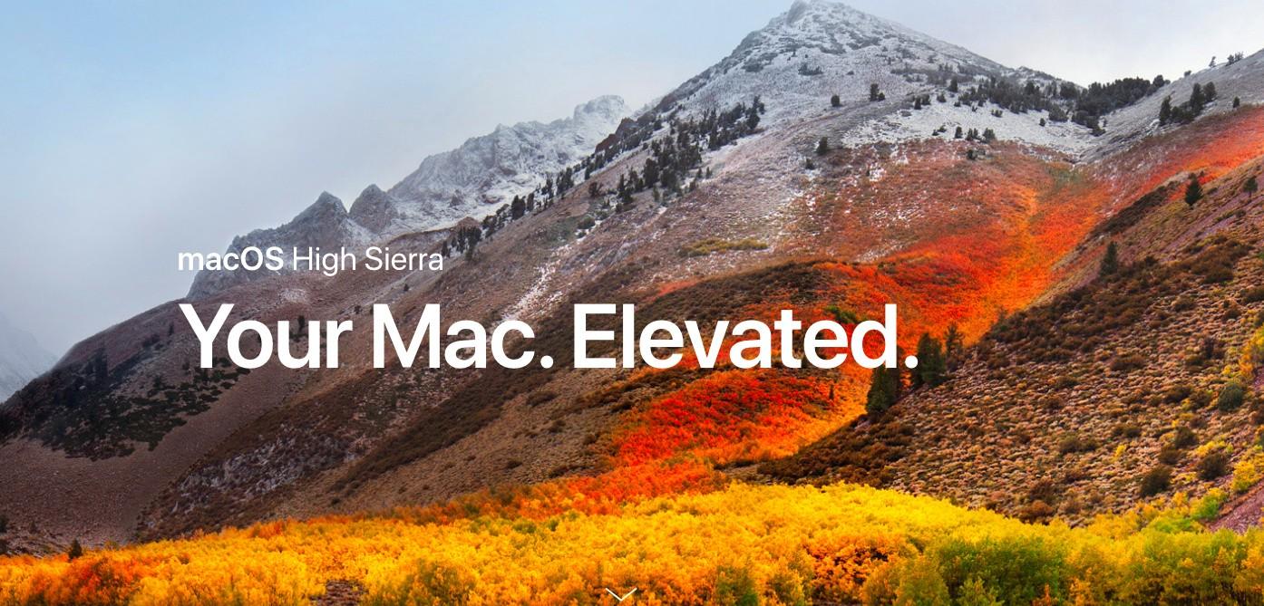 Mac update for high sierra