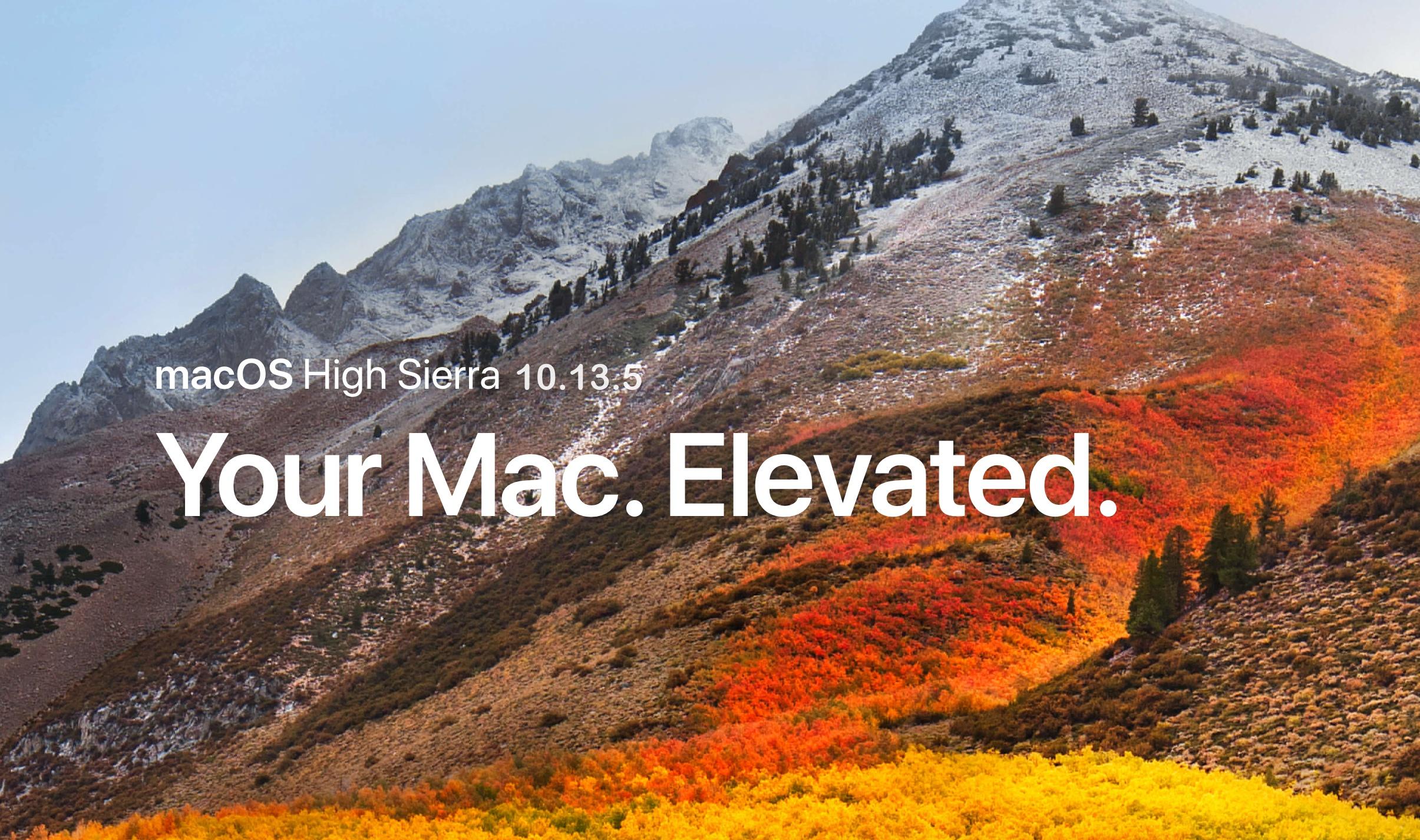 macos high sierra 10 13 5