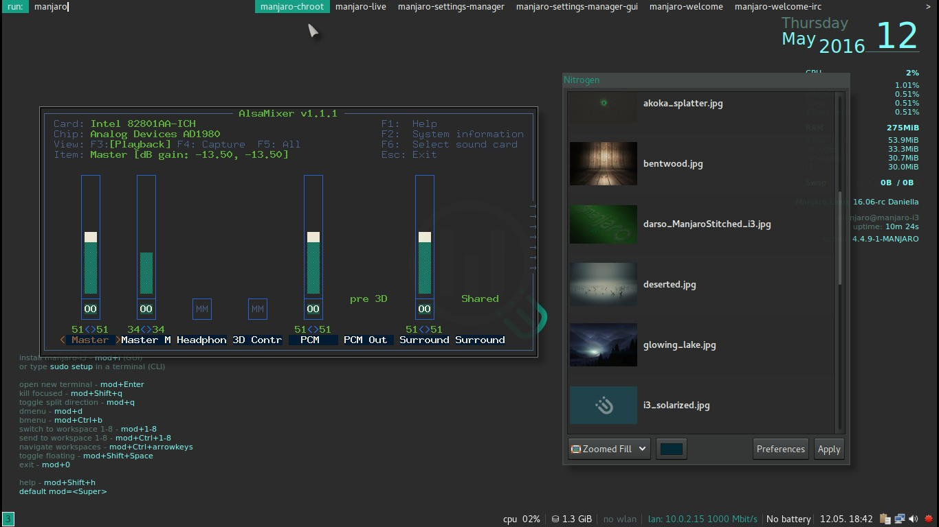 Manjaro Linux 16 06 RC i3 Community Edition Ships with Linux Kernel