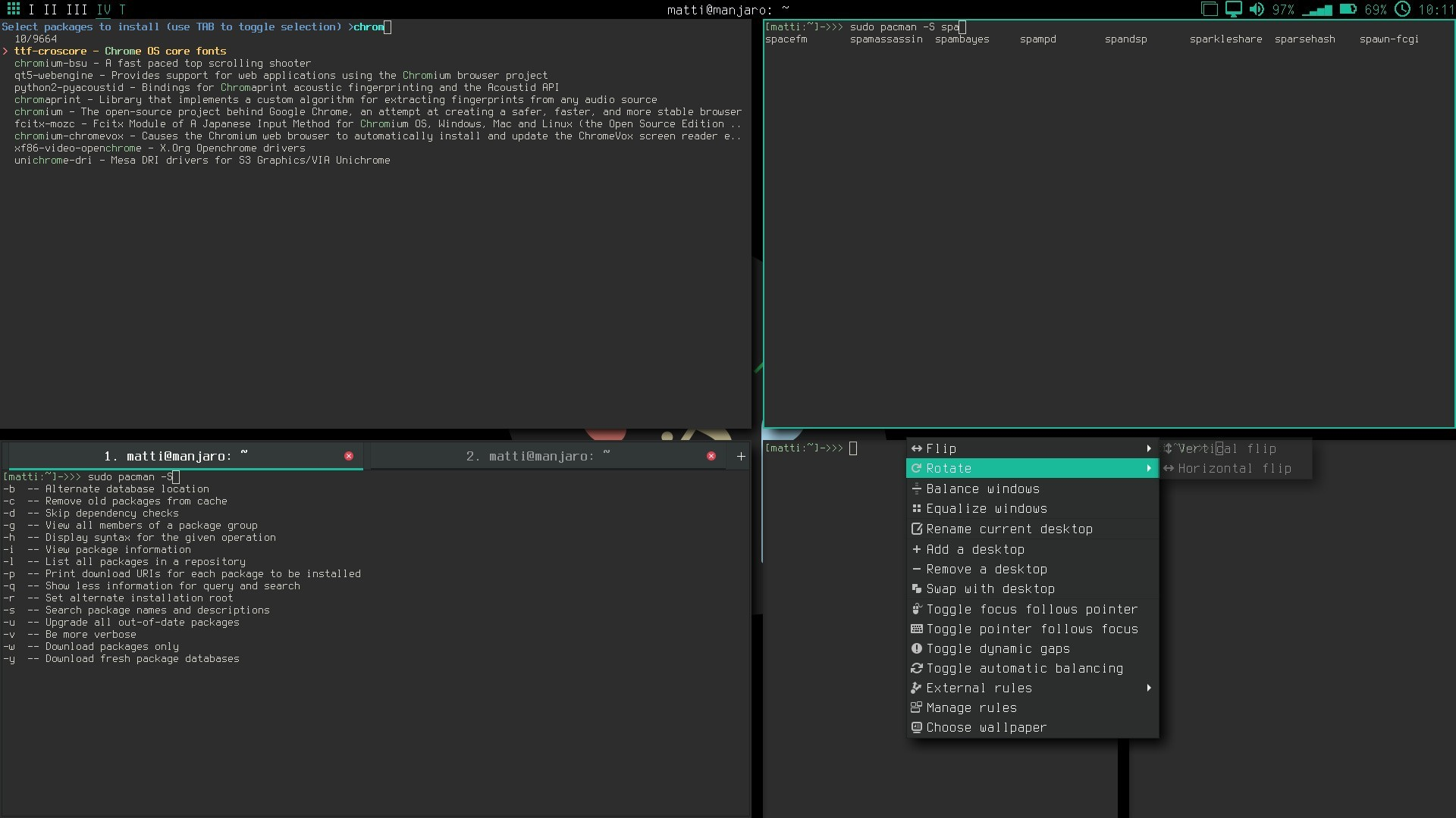 Manjaro Linux Bspwm 16 05 Edition Officially Released