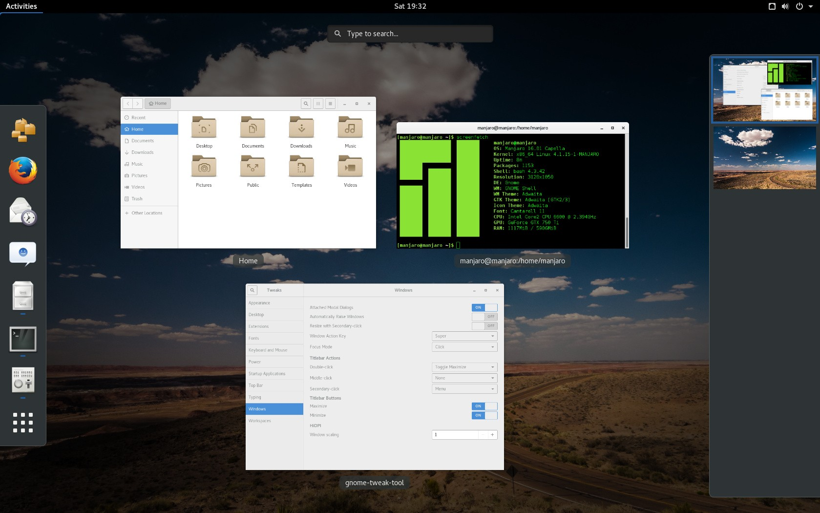 manjaro linux gnome 16 01 community edition gets a first